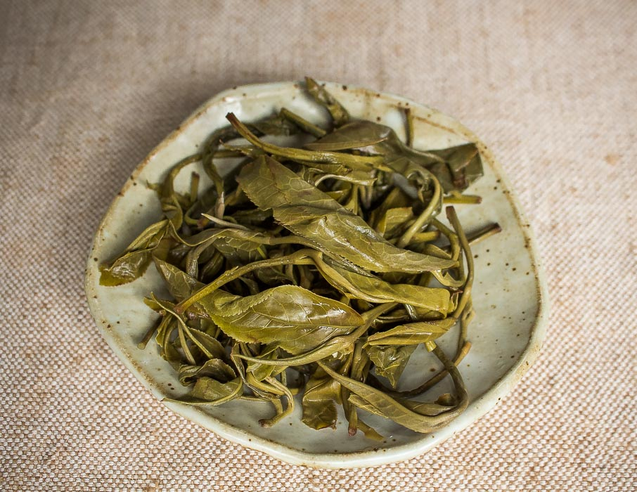 Steamed Green Tea from Thailand - Steeped Leaves