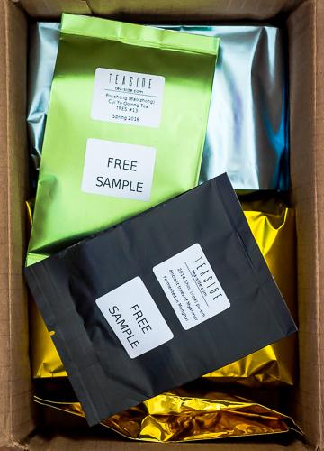 Free tea samples in a box - TEASIDE