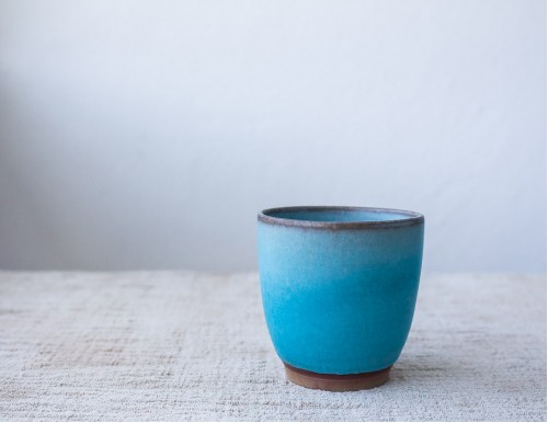 Ceramic Tea Cup, Sky Blue, 170ml