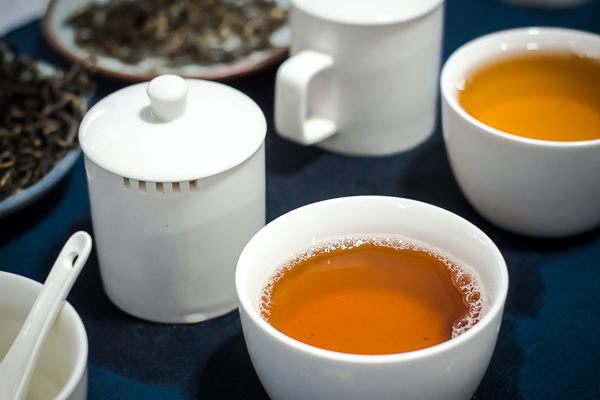 Over-steeped pu-erh tea's infusion